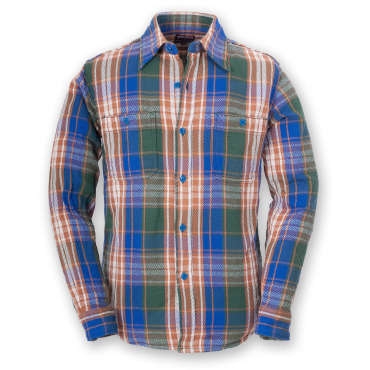 FLANNEL SHIRT - GREEN-BLUE