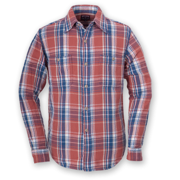 FLANNEL SHIRT - RED-BLUE